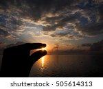 Silhouette Shot Of Left Hand...
