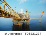 offshore construction platform... | Shutterstock . vector #505621237
