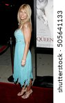 Small photo of Donna D'Errico at the Los Angeles premiere of 'The Queen' held at the Academy of Motion Picture Arts and Sciences in Beverly Hills, USA on October 3, 2006.