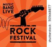 rock music poster template | Shutterstock .eps vector #505668877