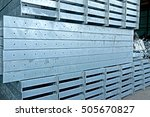 hot dip galvanized steel angles ... | Shutterstock . vector #505670827