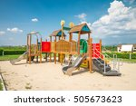 outdoor children playground in... | Shutterstock . vector #505673623
