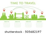 time to travel concept with... | Shutterstock .eps vector #505682197