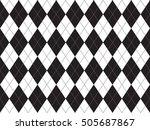 black white argyle seamless...   Shutterstock .eps vector #505687867