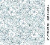 monochrome hand drawn seamless... | Shutterstock . vector #505688563