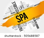 spa word cloud collage  concept ... | Shutterstock .eps vector #505688587