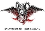 a demon with wings | Shutterstock .eps vector #505688647