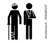 injured person icon image    Shutterstock .eps vector #505689247