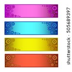 a set of four different colors... | Shutterstock .eps vector #505689397