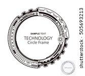 circular technology frame... | Shutterstock .eps vector #505693213