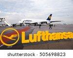 the lufthansa airline logo  ... | Shutterstock . vector #505698823