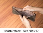 Small photo of empty wallet, bankrupt concept.