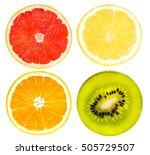 citrus fruit set   grapefruit ... | Shutterstock . vector #505729507