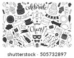 celebration and party icons on... | Shutterstock .eps vector #505732897