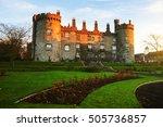kilkenny castle in the evening. ... | Shutterstock . vector #505736857