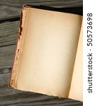 blank page of an old book on... | Shutterstock . vector #50573698