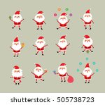 merry christmas santa claus... | Shutterstock .eps vector #505738723