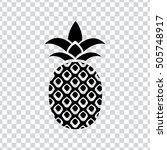 pineapple icon  | Shutterstock .eps vector #505748917