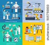 pharmaceutical production... | Shutterstock .eps vector #505750003