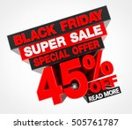 black friday super sale special ... | Shutterstock . vector #505761787