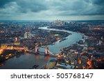 london skyline with illuminated ... | Shutterstock . vector #505768147