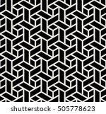 abstract geometric black and... | Shutterstock .eps vector #505778623