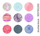 hand colored texture. set. the... | Shutterstock .eps vector #505781203