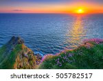 Cliffs Of Moher At Sunset In C...