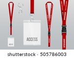 set of lanyard and badge. metal ...