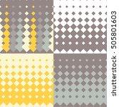 set of 4 seamless vector... | Shutterstock .eps vector #505801603