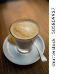coffee   cafe latte | Shutterstock . vector #505809937