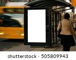 blank outdoor bus advertising... | Shutterstock . vector #505809943