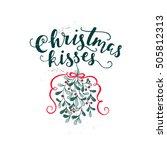 vector holiday calligraphy  ... | Shutterstock .eps vector #505812313
