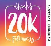 20 thousand followers online... | Shutterstock .eps vector #505823143