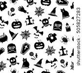 halloween seamless background | Shutterstock . vector #505827283