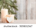 Candles With Heart  Copy Space