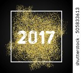 happy new year 2017. gold... | Shutterstock .eps vector #505833613
