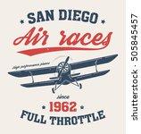 san diego t shirt design  print ... | Shutterstock .eps vector #505845457