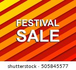 red striped sale poster with... | Shutterstock .eps vector #505845577