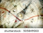 Detail Of A Magnetic Compass O...