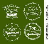 vector set of eco badges with... | Shutterstock .eps vector #505850257