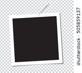 realistic vector photo frame on ... | Shutterstock .eps vector #505859137