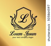 luxury logo | Shutterstock .eps vector #505864597