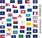illustration of the flags of us ... | Shutterstock . vector #50586919