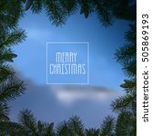 christmas blue background with... | Shutterstock .eps vector #505869193
