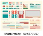 web ui kit elements flat design....