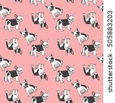 seamless pattern with cute... | Shutterstock .eps vector #505883203