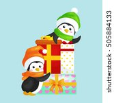 winer holidays happy cute... | Shutterstock .eps vector #505884133