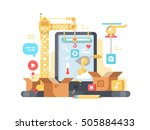 creation and development of app | Shutterstock .eps vector #505884433