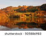 Small photo of water reservoir agger,germany